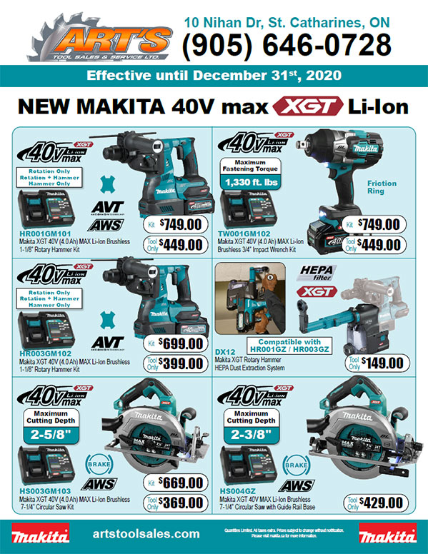 Makita 40 Volt Flyer Dec 2020