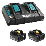 18V LXT Lithium‑Ion Dual Port Rapid Optimum Charger DC18RD Plus 2 5Ah BL1850B