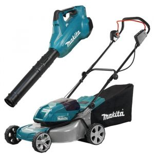 Combo Makita Lawn Mower and Blower DLM460Z DUB362Z
