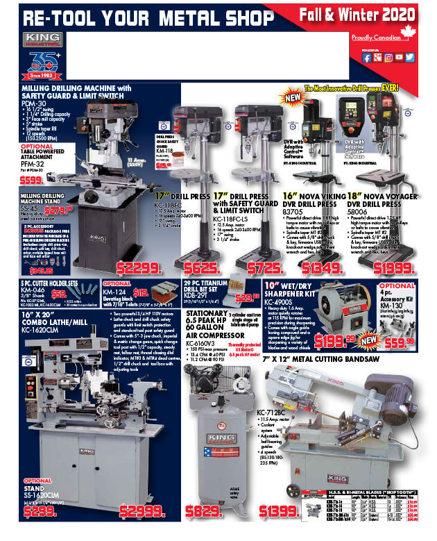 Fall-Winter 2020 Metalworking Flyer